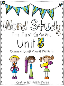 Words Their Way Aligned Lesson and Activities for 1st Graders Unit 5
