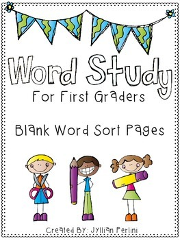 Words Their Way Aligned Word Sorting Pages FREEBIE