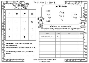 Words Their Way - Alpha Spell - BOGGLE & What Is Your Word Worth - Sorts 6-49 v2