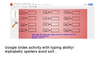 Words Their Way Alphabetic Spellers Red sort book  Words that work the same