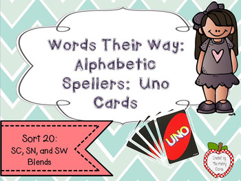 Words Their Way: Alphabetic Spellers: Sort 20: SC, SN, and