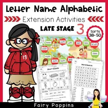 Letter Name Alphabetic Games & Worksheets (Unit 6-8) Short & R Influenced Vowels
