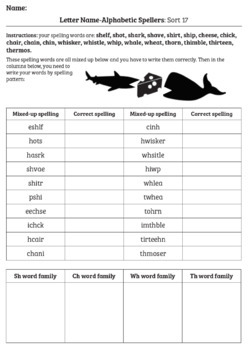 Words Their Way Anagrams: Letter Name-Alphabetic Spellers
