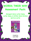 Words Their Way Assessment Pack