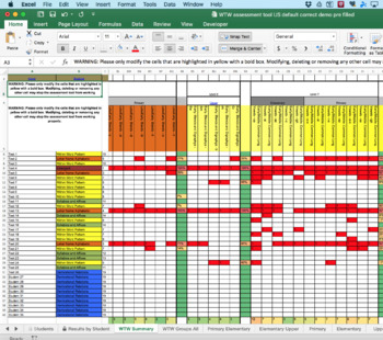 Words Their Way Automatic Inventory Marking Spreadsheet - US