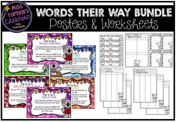 Words Their Way BUNDLE (Posters & Worksheets)