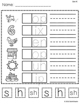 Words Their Way Based Independent Word Work-Middle Letter Name Alphabetic