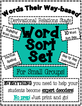 Words Their Way Based Word Sort Set-Derivational Relations Stage