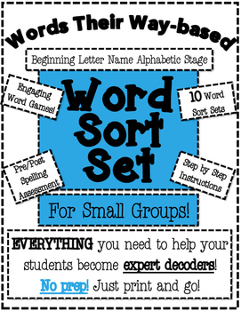 Words Their Way Based Word Sort Set-Beginning Letter Name