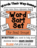 Words Their Way Based Word Sort Set-Late Letter Name Alphabetic