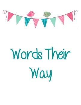 Words Their Way Binder Cover