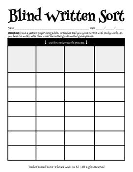 Blind Sort Documentation Sheet