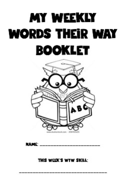 Words Their Way Booklet