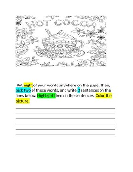 Words Their Way Booklet for January