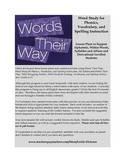 Words Their Way:  Complete Syllables and Affixes Stage Lesson Plans