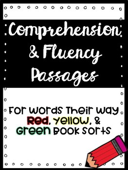 Words Their Way Comprehension & Fluency Passages {Growing Bundle}