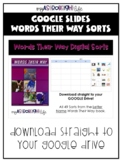 Words Their Way DIGITAL SORT- Letter Name