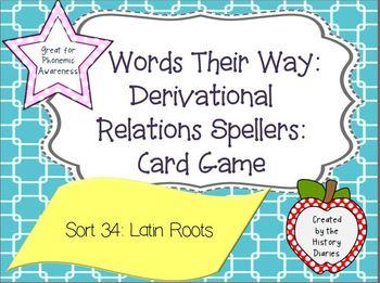 Words Their Way: Deriv Relations:Sort 34: Roots (man, scrib/script, cred, fac)