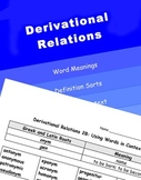 Words Their Way Derivational Relations Activities (All 38)