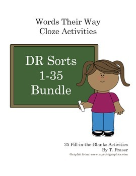 Words Their Way Derivational Rel. 2nd Ed Cloze/Fill in the Blank DR 1-35 Bundle