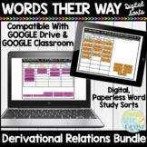 Words Their Way Derivational Relations Digital Sorts | Google Classroom