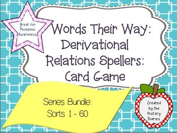 Words Their Way: Derivational Relations: Series BUNDLE: Sorts 1-60