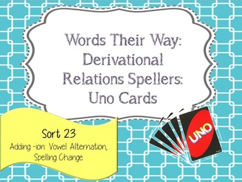 Words Their Way:Derivational Relations: Sort 23: Adding -i