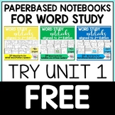 Derivational Relations Spellers Word Study Notebook FREEBIE