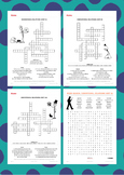 Words Their Way Derivational Relations Spelling Crosswords & Word Searches 1-30