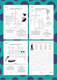 Words Their Way Derivational Relations Spelling Crosswords & Word Searches 31-60