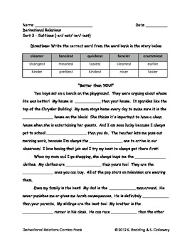 Words Their Way: Derivational Relations: Word Hunts- Sorts 1-25 pack