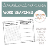 Words Their Way Derivational Relations Word Searches