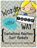 Words Their Way Derivational Relations Word Sort Packets