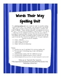 Words Their Way Differentiated Spelling Units All Year Hom