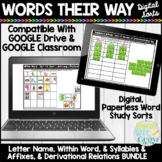 Words Their Way Digital Sorts Bundle Letter Name, Within Word, Syllables Affixes