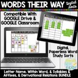 Words Their Way Digital Sorts COMPLETE BUNDLE