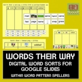 Words Their Way Digital Spelling Sorts Google Slides - Within Word Pattern