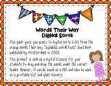 Words Their Way Digital Spelling Sorts - Syllables and Aff