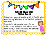 Words Their Way Digital Spelling Sorts - Within Word Patte