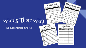Making Words and Word Work: Documentation Sheets
