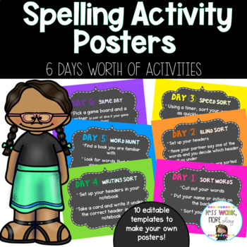 Words Their Way *Editable* Posters