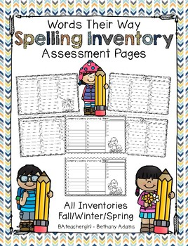 Words Their Way Inventory Spelling Assessment Pages