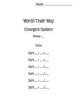 Words Their Way - Emergent Speller - Sorts 13-23 {sort book}