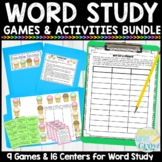 Words Their Way File Folder Games & Printable Activities *BUNDLE*