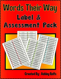Words Their Way File Folder Labels & Assessment Paper