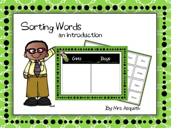 Words Their Way First Days Sorting