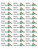 Words Their Way Folder Labels