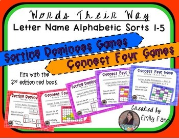 Words Their Way - GAME BUNDLE - Letter Name Alphabetic - Sorts 1 - 5