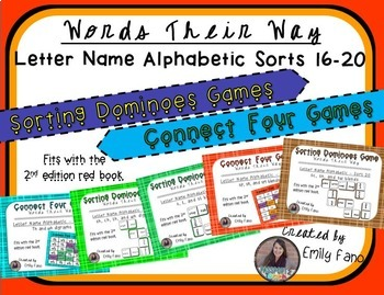 Words Their Way - GAME BUNDLE - Letter Name Alphabetic - Sorts 16 - 20