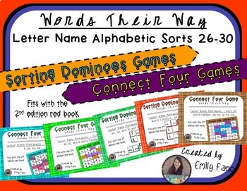 Words Their Way - GAME BUNDLE - Letter Name Alphabetic - Sorts 26 - 30
